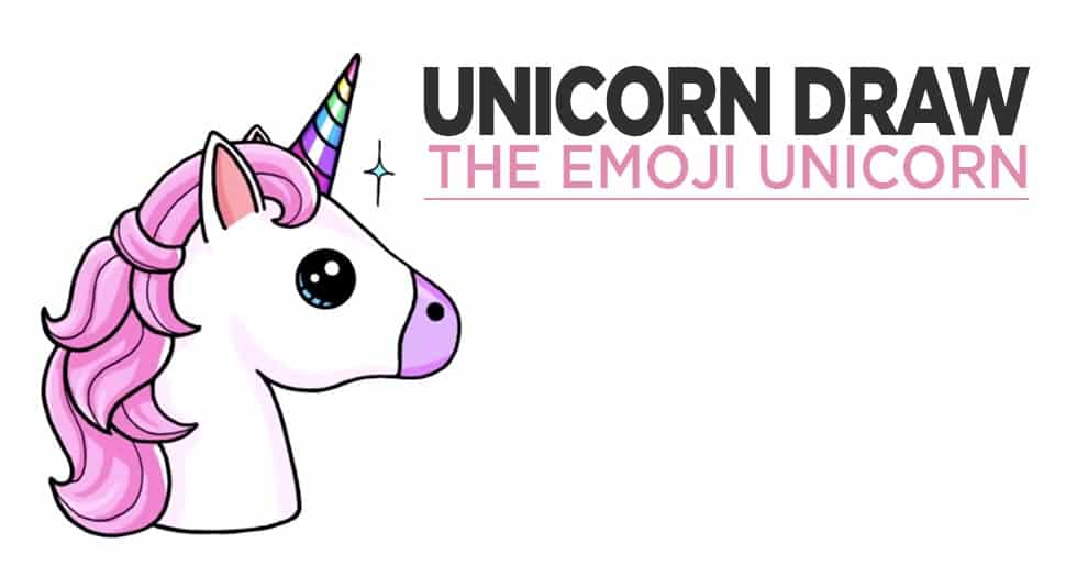 Our Tutorial For A Beautiful Emoji Unicorn Drawing