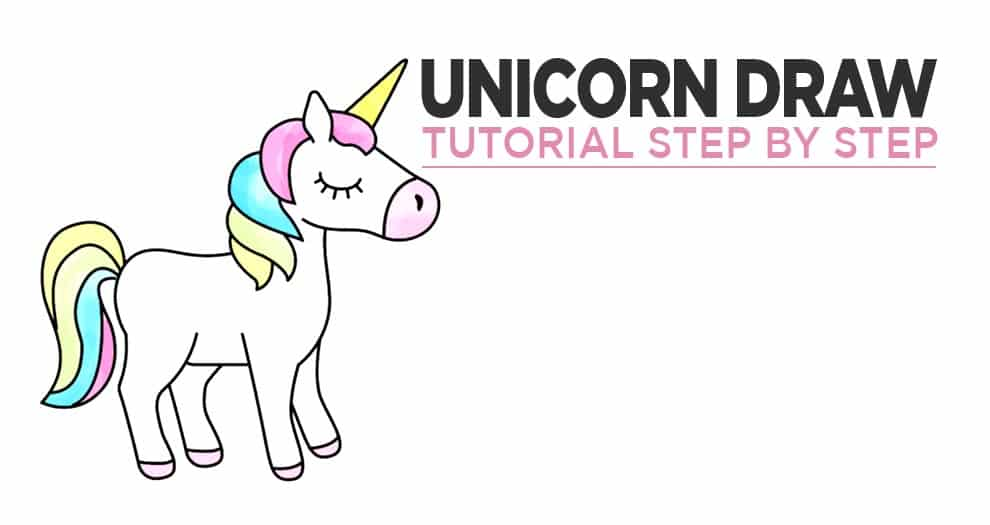 3 Tutorials For Drawing A Unicorn