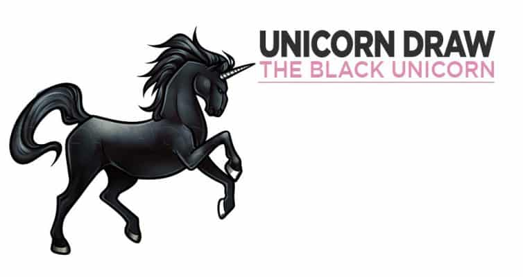 Tutorial For Drawing A Black Unicorn