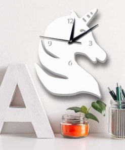 Unicorn Clock Shape