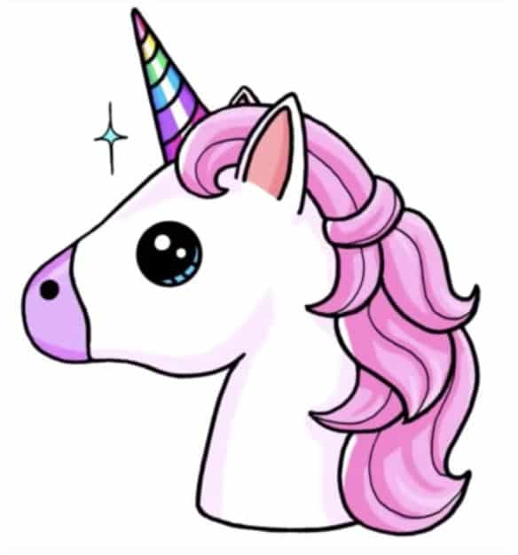 Final Step Of The Unicorn Emoji Drawing