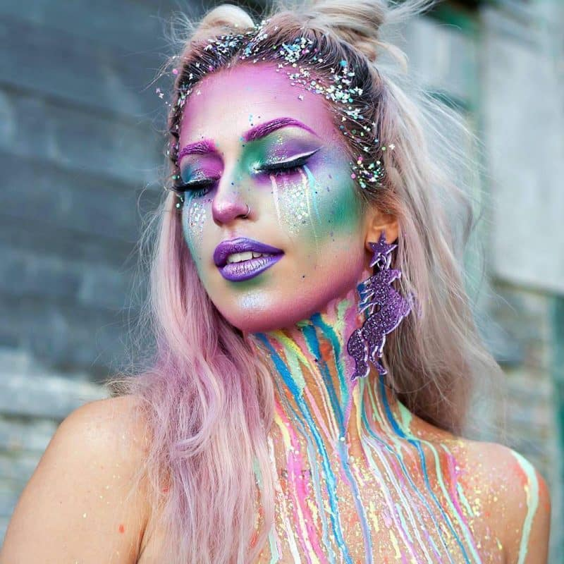 Girl In Rainbow Makeup