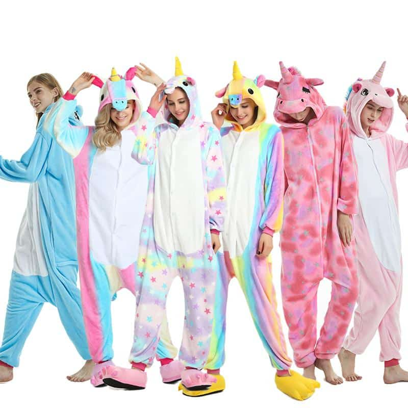 Girls In Unicorn Pajamas For Adults