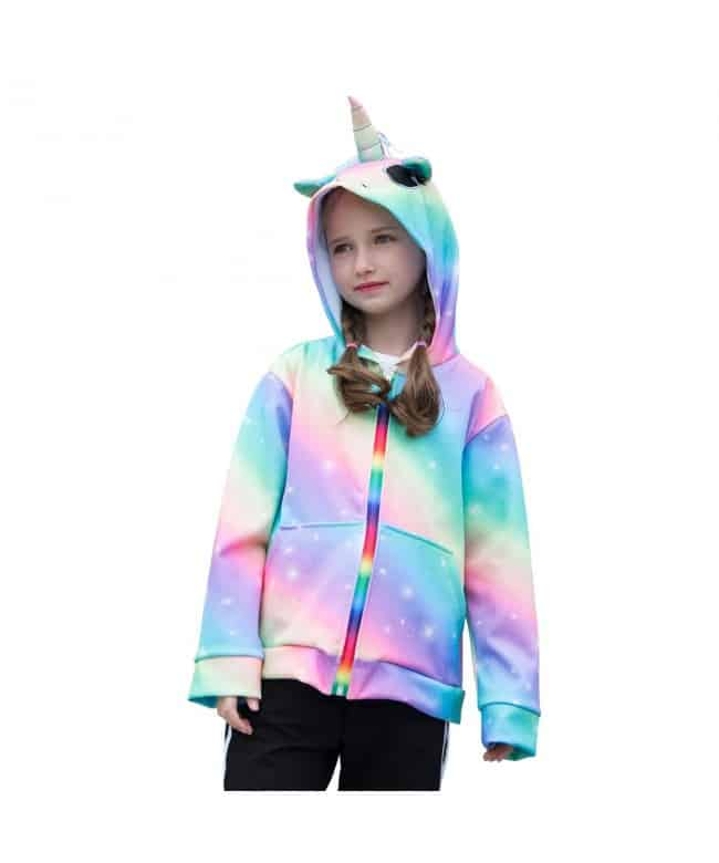 Toddler Girl In Unicorn Sweat