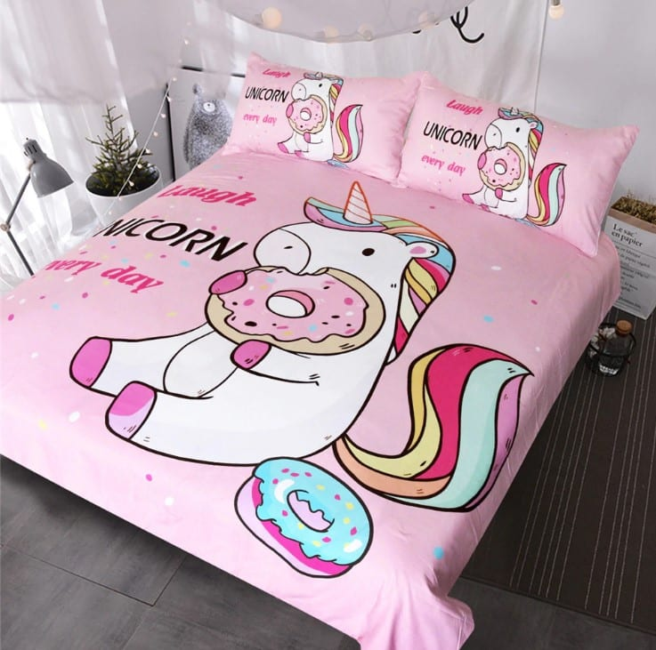 Unicorn Bedding With Donuts