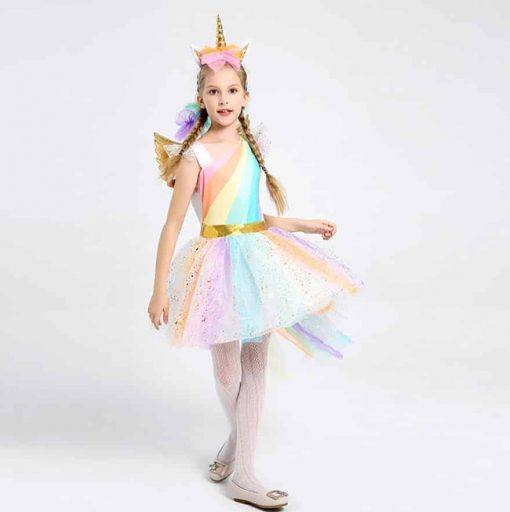 Unicorn Dress For 7 Year Old