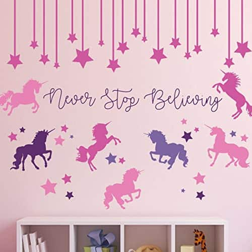 Unicorn Wall Stickers Never Stop Believing