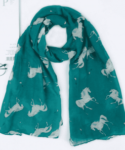 Unicorn Scarf Green Womens