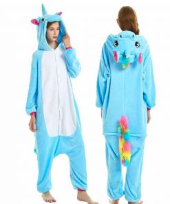 Unicorn Pajamas Blue Kigurumi