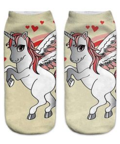 Unicorn Socks Heart