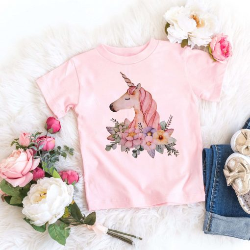 Unicorn Shirt Flowers