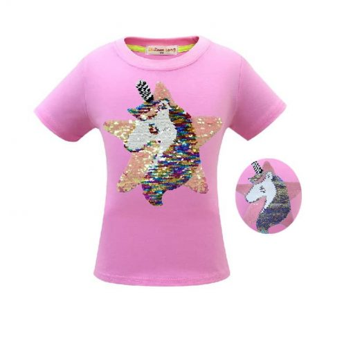 Unicorn Shirt Sequin Changing