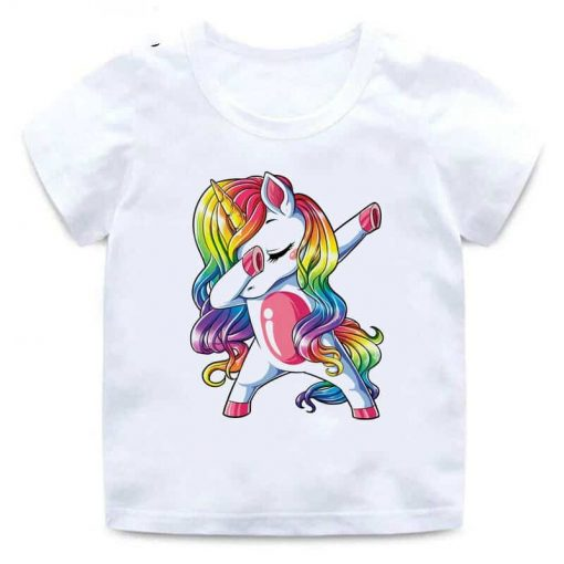 Unicorn Shirt Dabbing Kids