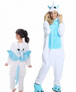 Unicorn Pajamas Girls Footie