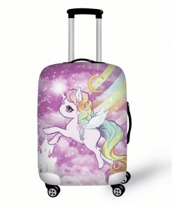Unicorn Suitcase Flying Rainbow