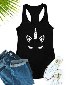 Unicorn Tank Top Black