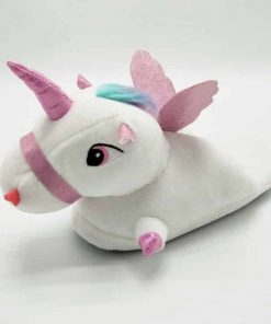 Unicorn Slippers White