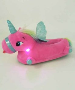 Unicorn Slippers Childrens Light Up
