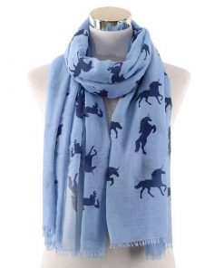 Unicorn Scarf Dark Blue