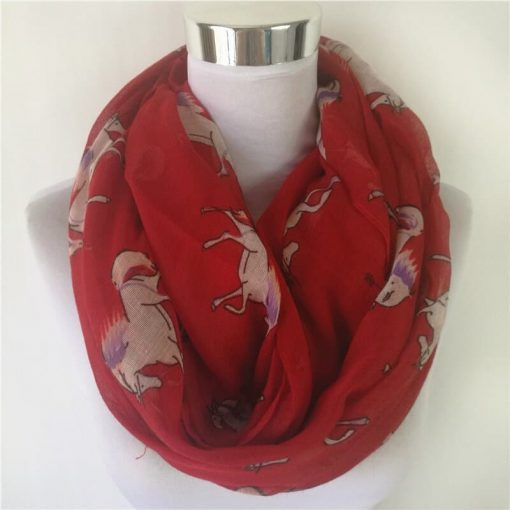 Unicorn Scarf Red
