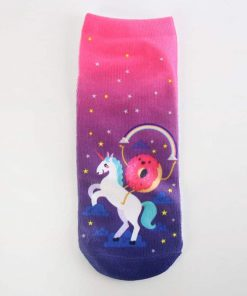 Unicorn Socks Donut