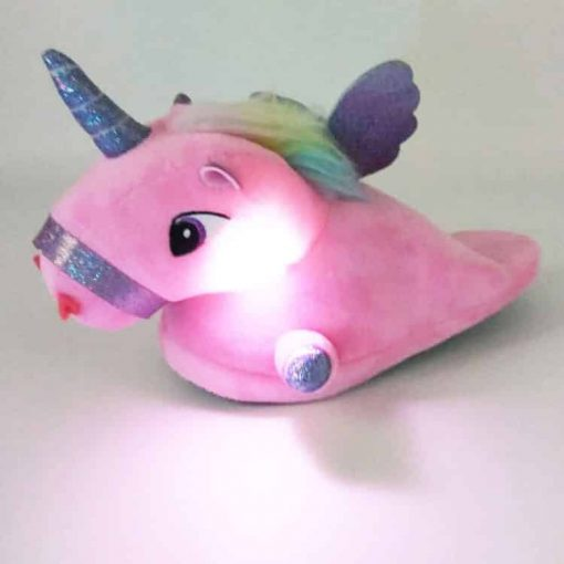 Unicorn Slippers Bedroom Light Up