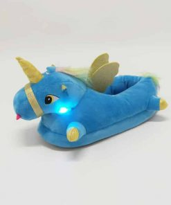 Unicorn Slippers Kids Light Up