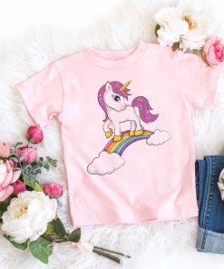 Unicorn Shirt Rainbow Surfing