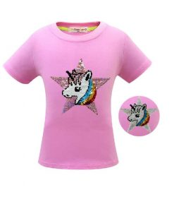 Unicorn Shirt Flip Sequin Girl