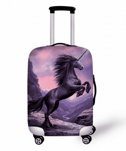 Unicorn Suitcase Black Unicorn