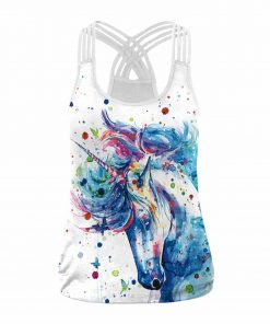 Unicorn Tank Top Paint Splatter