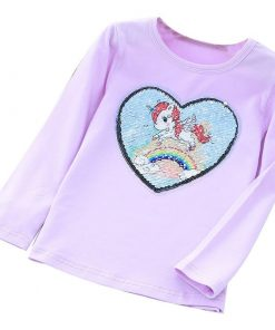 Unicorn Shirt Purple Sequin
