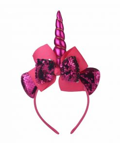 Unicorn Headband Purple Flowers
