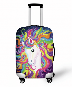 Unicorn Suitcase Rainbow Mane