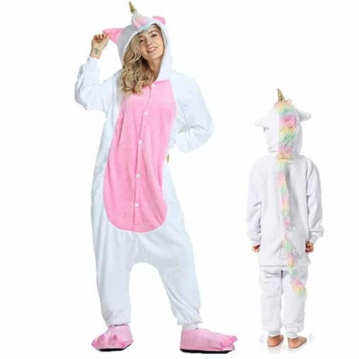 Unicorn Pajamas Girls Hooded