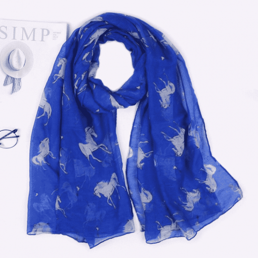 Unicorn Scarf Blue Womens