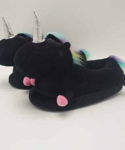 Unicorn Slippers Black