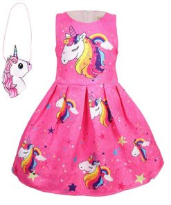 Unicorn Dress Pink Space