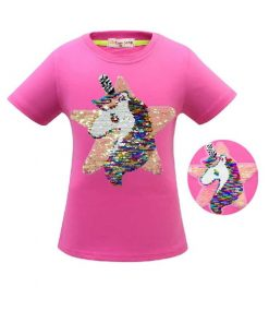 Unicorn Shirt Brush Sequin