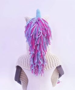 Unicorn Hat Crochet Pink