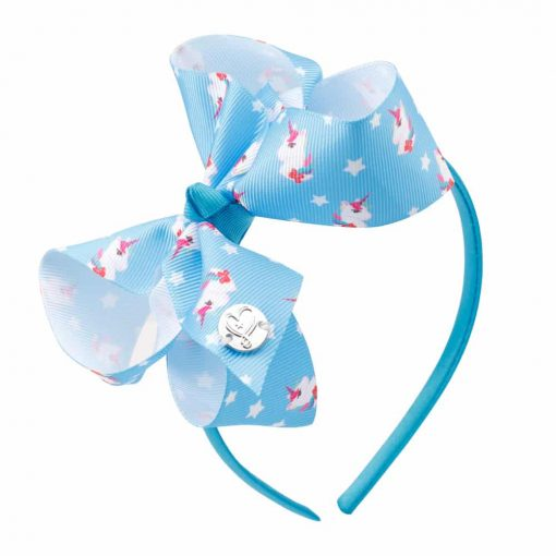 Unicorn Headband Light Blue Fabric