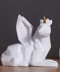 Unicorn Piggy Bank White