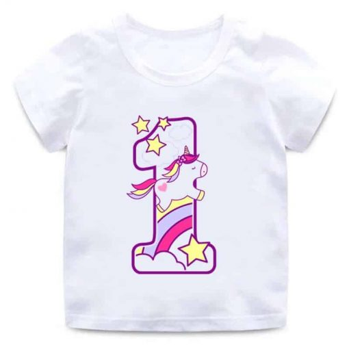Unicorn Shirt One Birthday