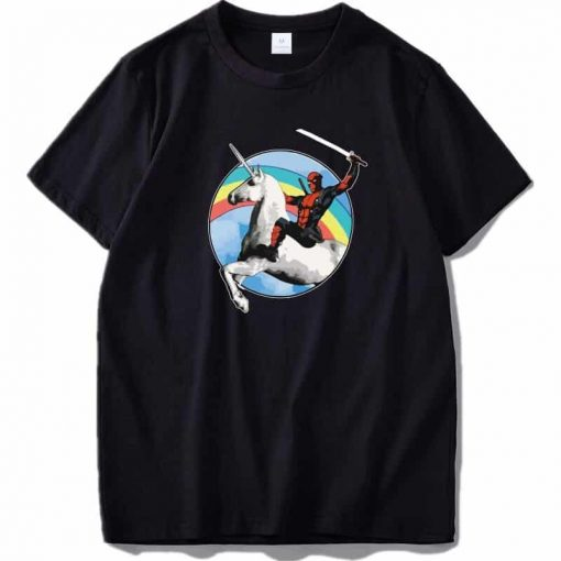 Unicorn Shirt Deadpool Rainbow