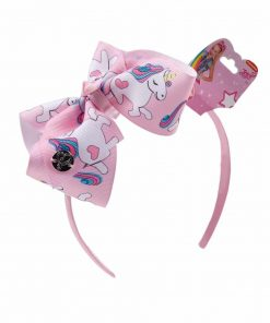 Unicorn Headband Pink Fabric Top Knot