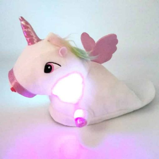 Unicorn Slippers Womens Light Up