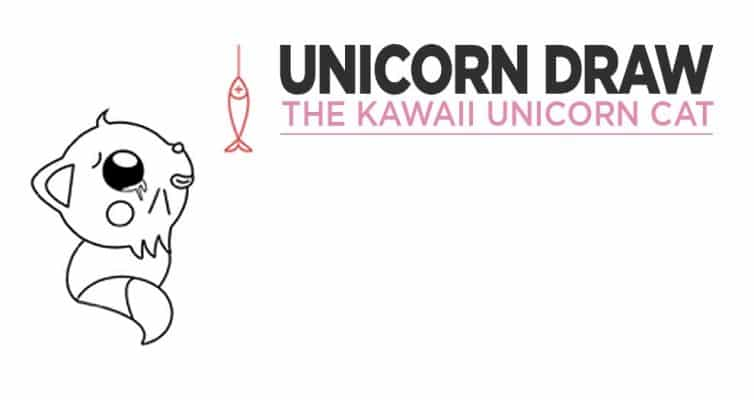 Quickly And Easily Draw A Kawaii Unicorn Cat In Five Steps