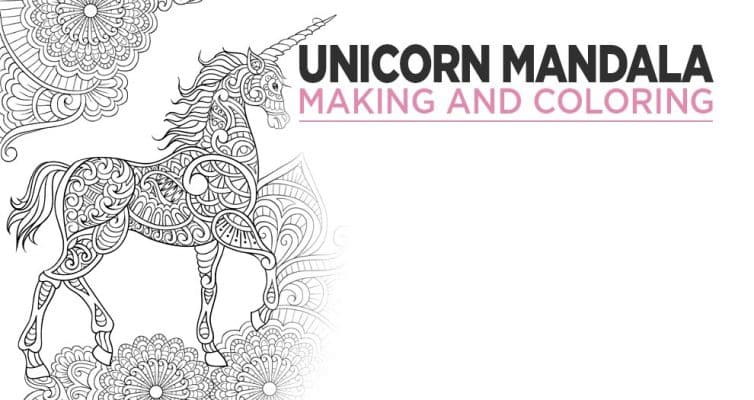 Make A Unicorn Mandala Coloring