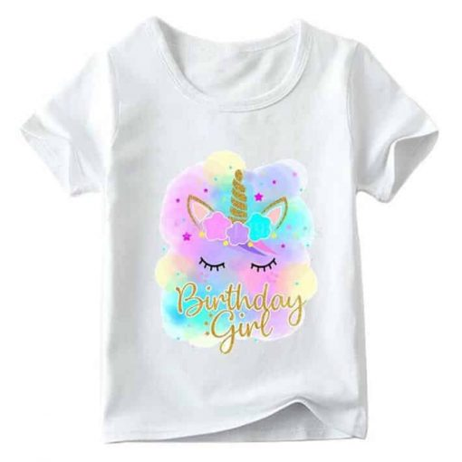 Unicorn Shirt Rainbow Birthday
