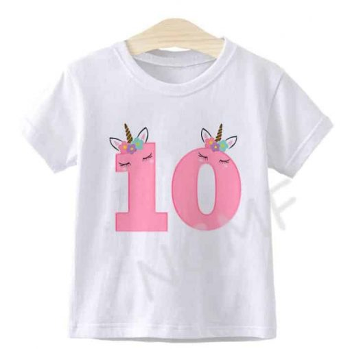 Unicorn Shirt 10th Birthday